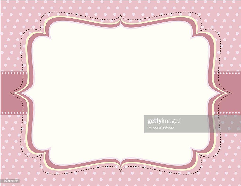 Ornate Pink Polka Dot Frame