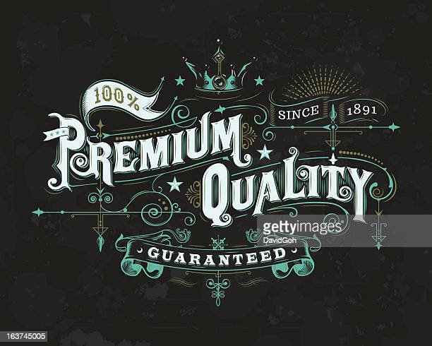 Ornate Premium Quality Label 2