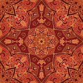 Ornate red pattern.