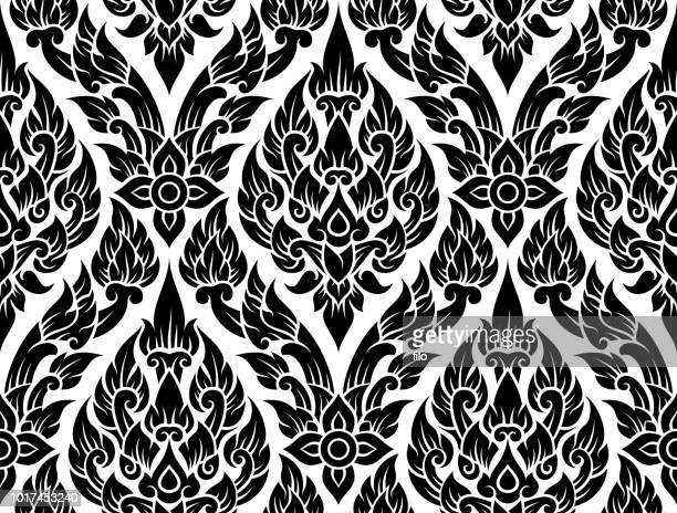 ornate seamless pattern - intricacy stock illustrations