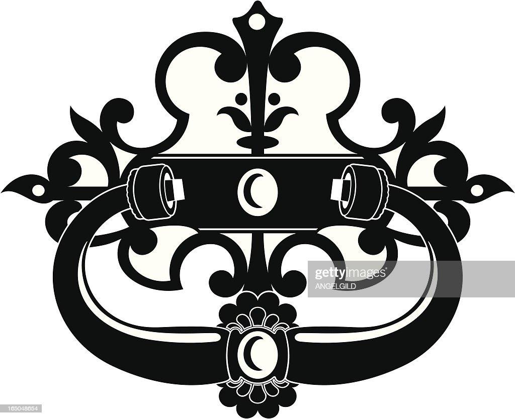 Ornate Spanish Door Knocker : Vector Art