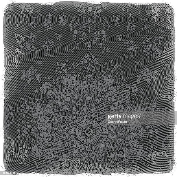 Ornate Tapestry Background Engraving
