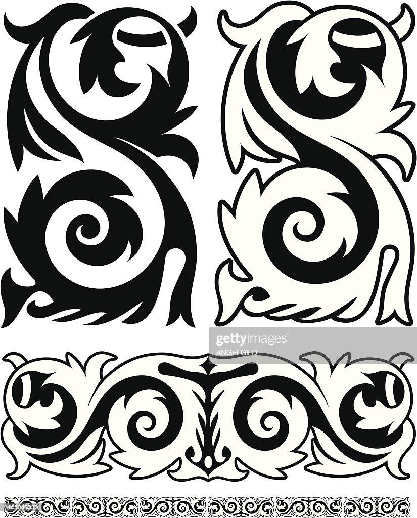 Ornate Victorian Frieze : stock illustration