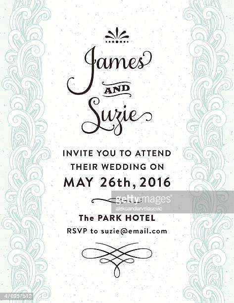 Ornate Wedding Invitation