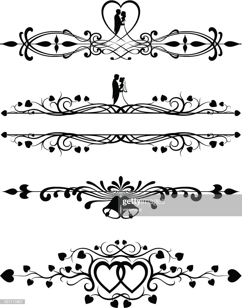 ornate wedding scrolls vector art getty images