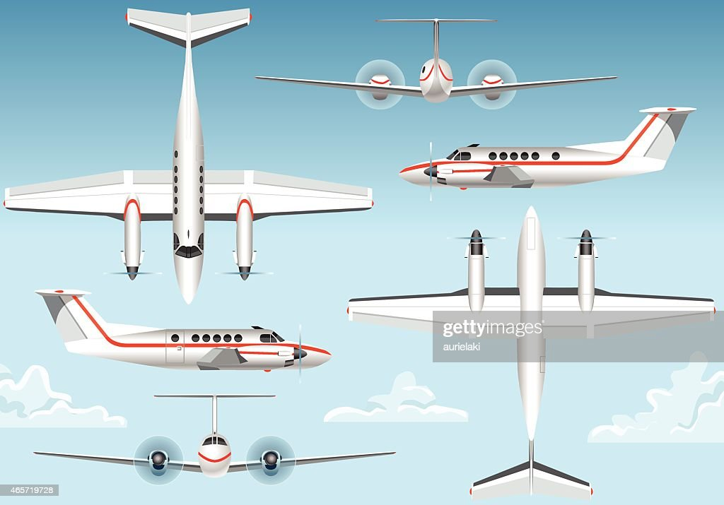 Orthogonal Views of a Flying Airplane