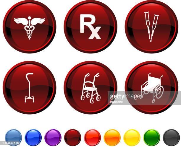 整形外科用医療用品ロイヤリティフリーのベクターアイコンセット - 歩行器点のイラスト素材/クリップアート素材/マンガ素材/アイコン素材