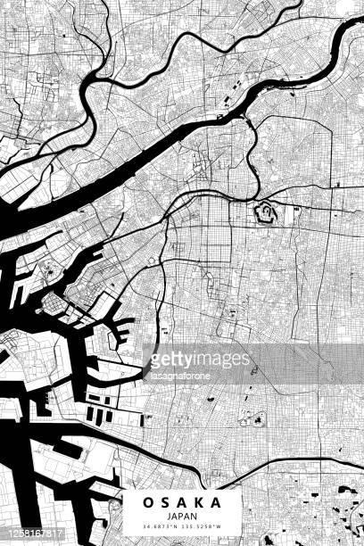 大阪・日本ベクトルマップ - 大阪ビジネスパーク点のイラスト素材/クリップアート素材/マンガ素材/アイコン素材