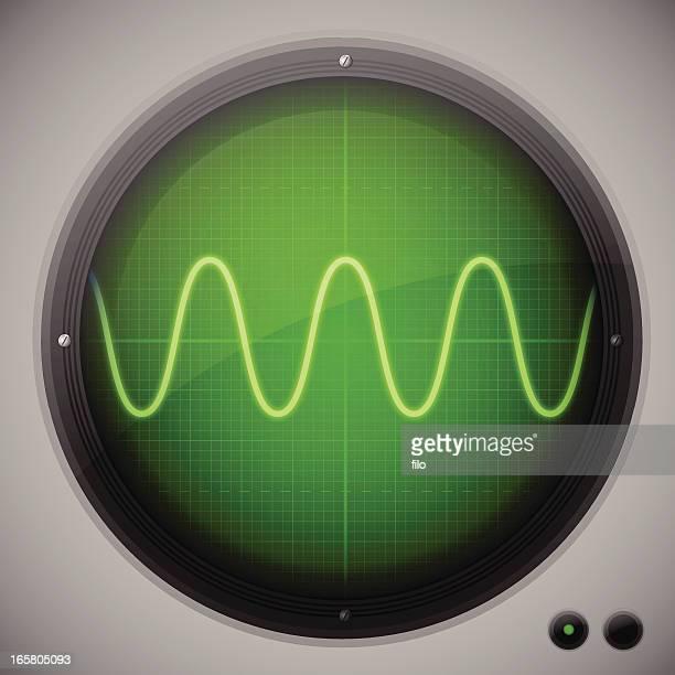 stockillustraties, clipart, cartoons en iconen met oscilloscope - oscilloscoop