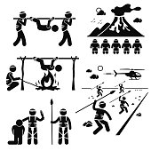 ost Civilization Cannibal Man Eating Tribe Stick Figure Pictogram Icons