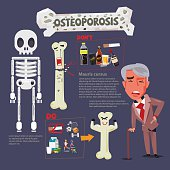 osteoporosis infographic icon - vector illustration