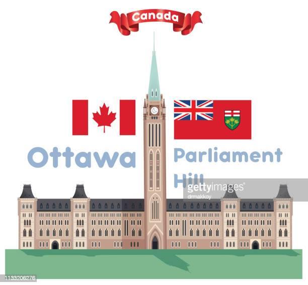 ottawa - parliament building stock illustrations