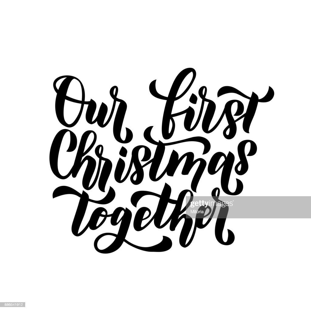 Unser Erstes Weihnachten Zusammen Frohe Weihnachten Und Happy New ...