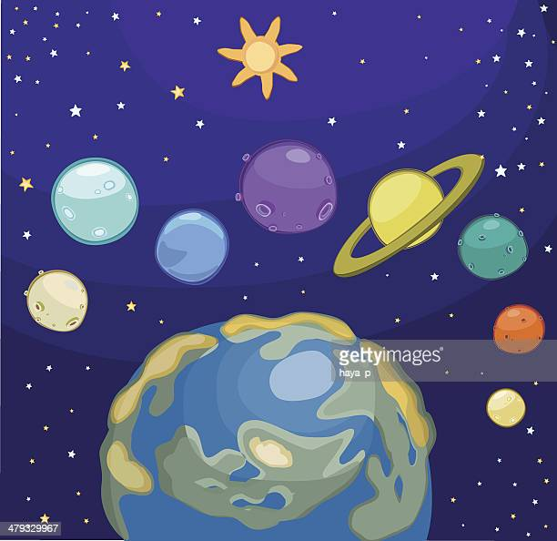 our small universe! - mercury planet stock illustrations