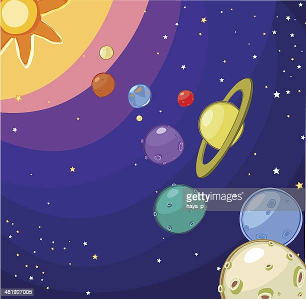 our small universe - mercury planet stock illustrations