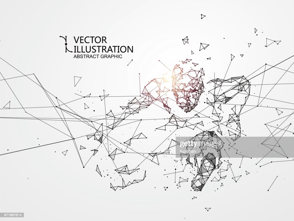 Out of the connection people, vector illustration.