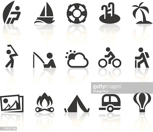 Outdoor Activities Icons | Simple Black Series