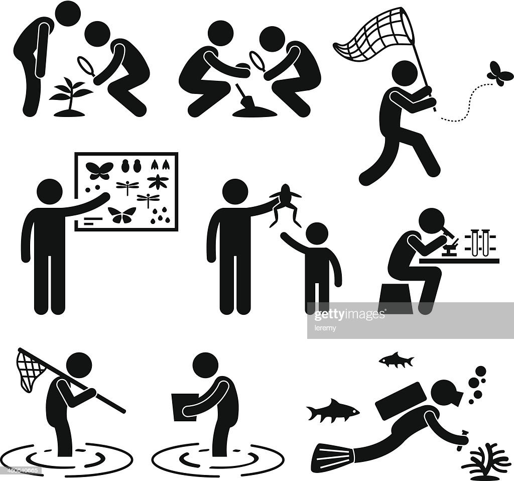 Outdoor Activity Geologist Research Pictogram