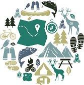 Outdoor Activity Icon Set