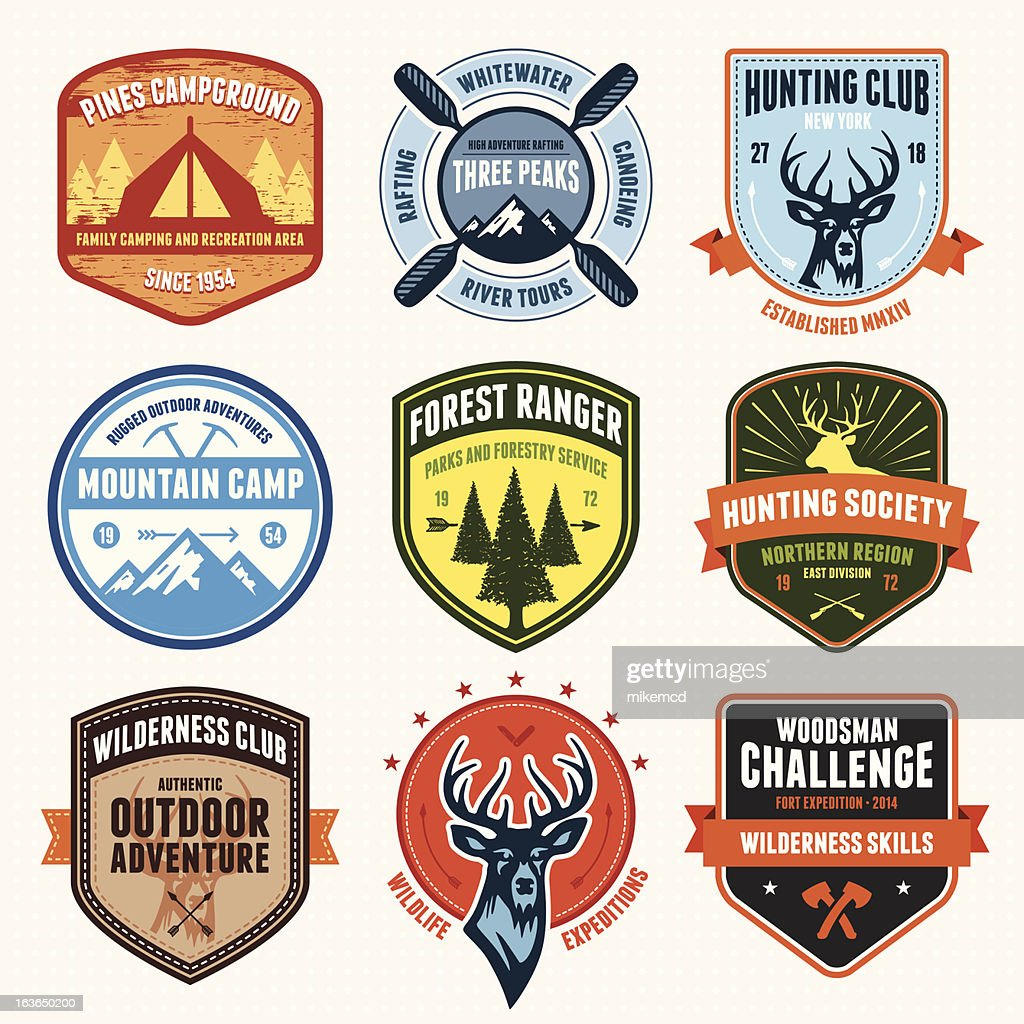 Outdoor adventure emblems