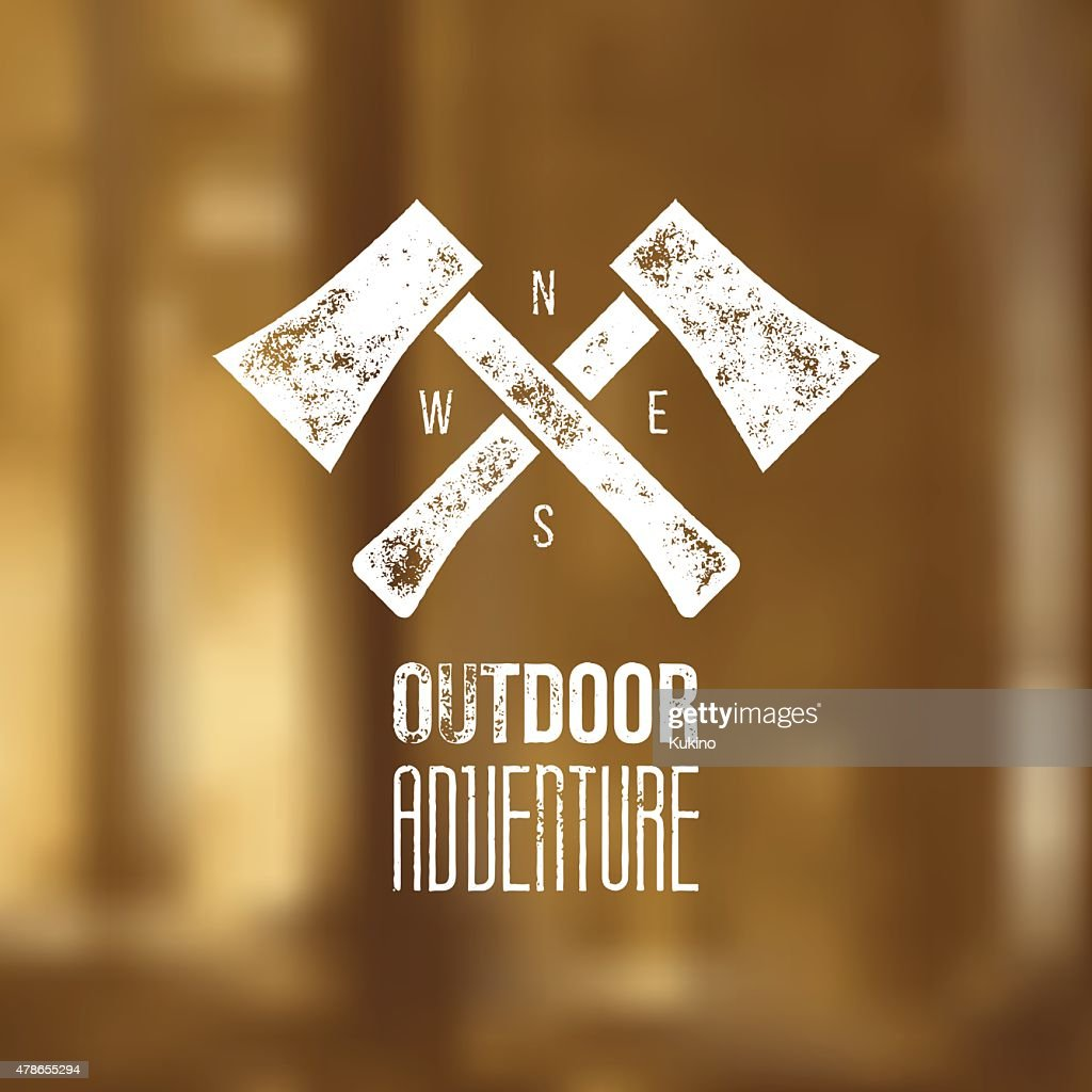 Outdoor adventure t-shirt logo design - vector illustration