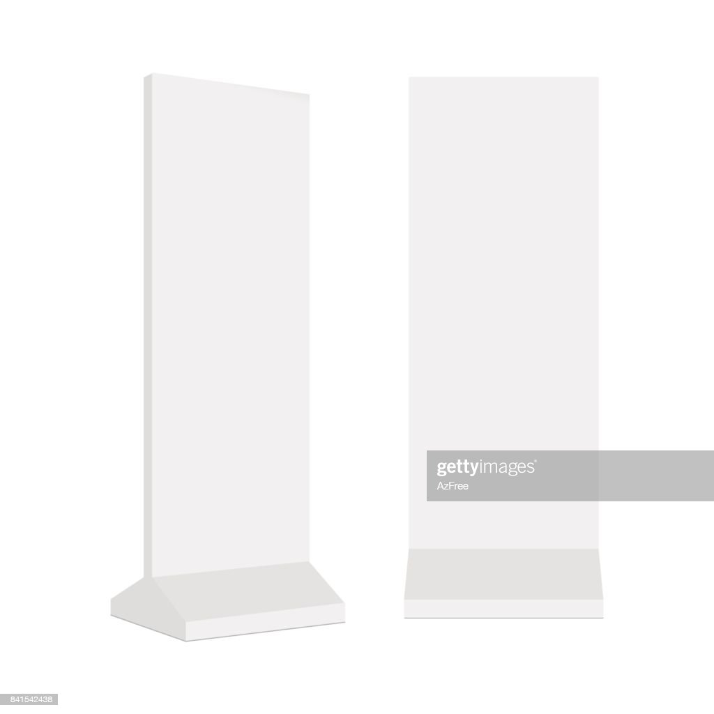 Outdoor advertising POS POI stand banner or lightbox. Vector mock up template ready for your design