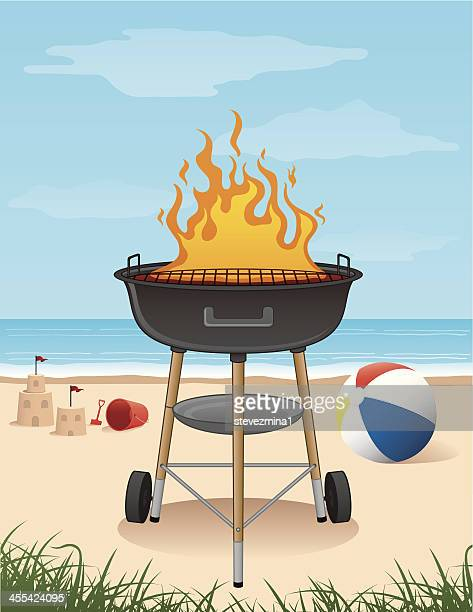 Outdoor beach grill