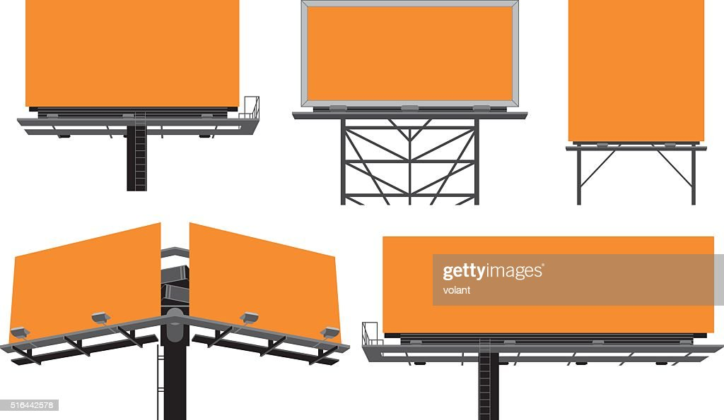 Outdoor billboards' constructions.