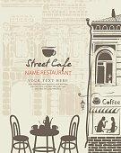 outdoor cafe menu