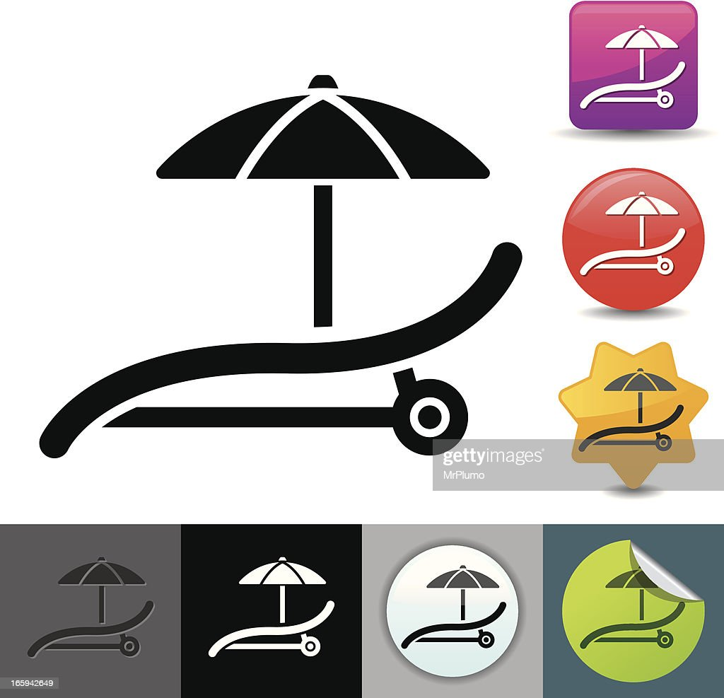 Outdoor chair and parasol icon | solicosi series