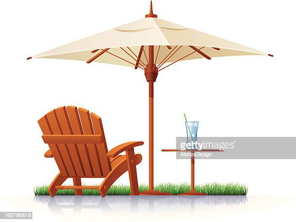 Outdoor Chair and Parasol