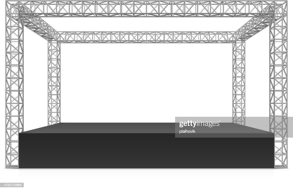 Outdoor festival stage, truss system