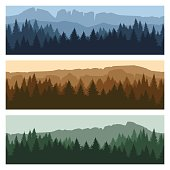Outdoor mountain landscape banners