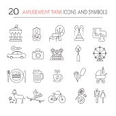 Outdoor park vector icons.