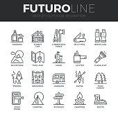 Outdoor Recreation Futuro Line Icons Set