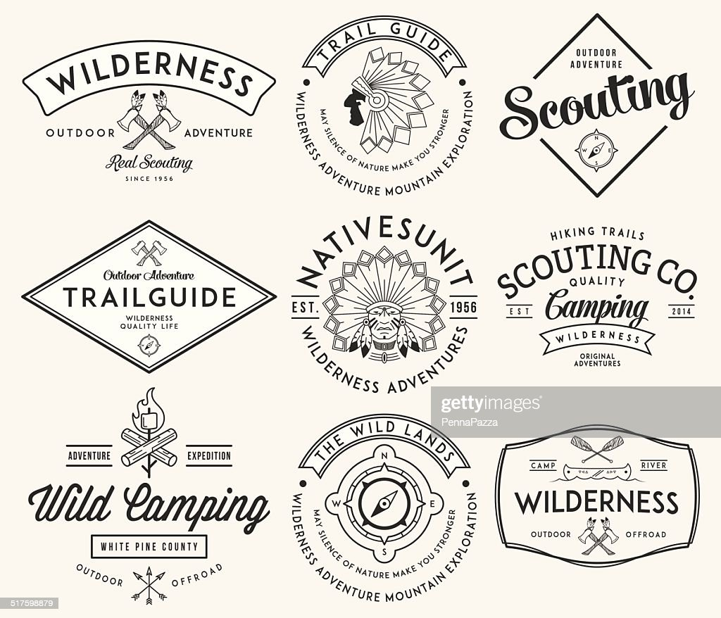 Outdoor scouting black on white