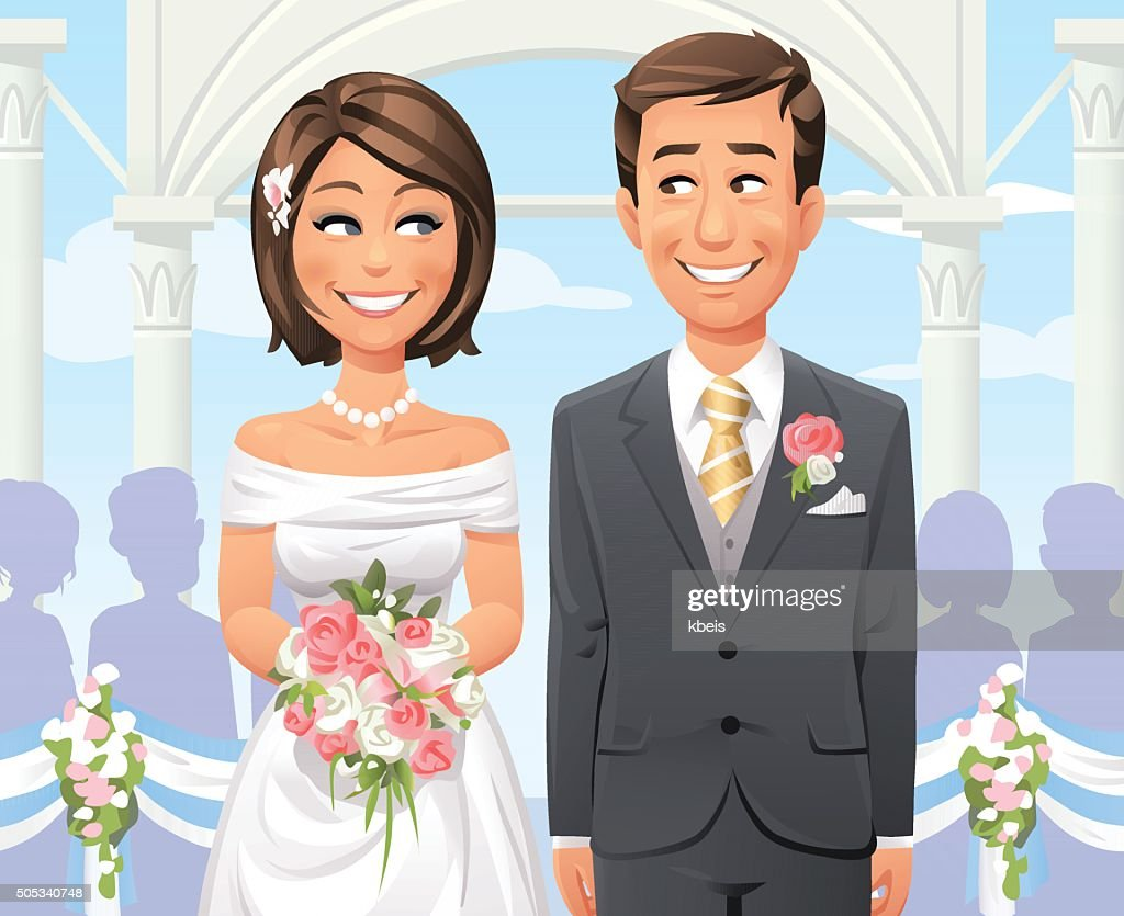 Outdoor Wedding Ceremony : stock illustration