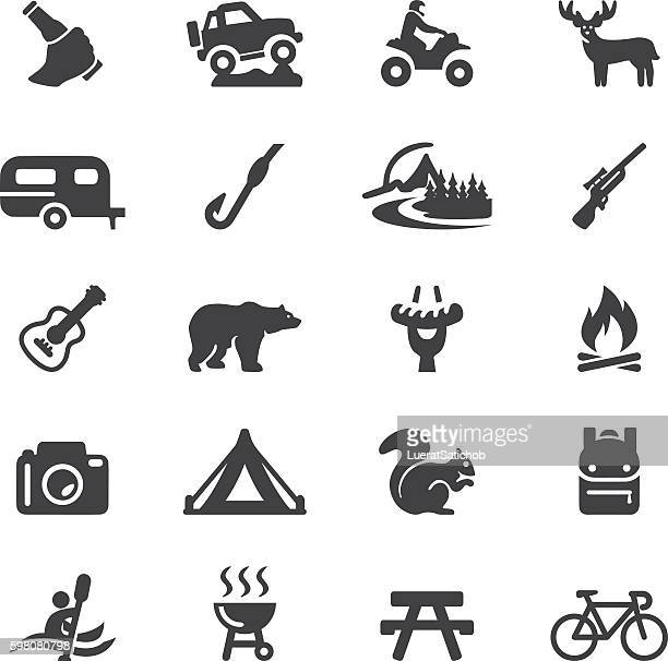 Outdoors and Adventure Silhouette 20 Icons| EPS10