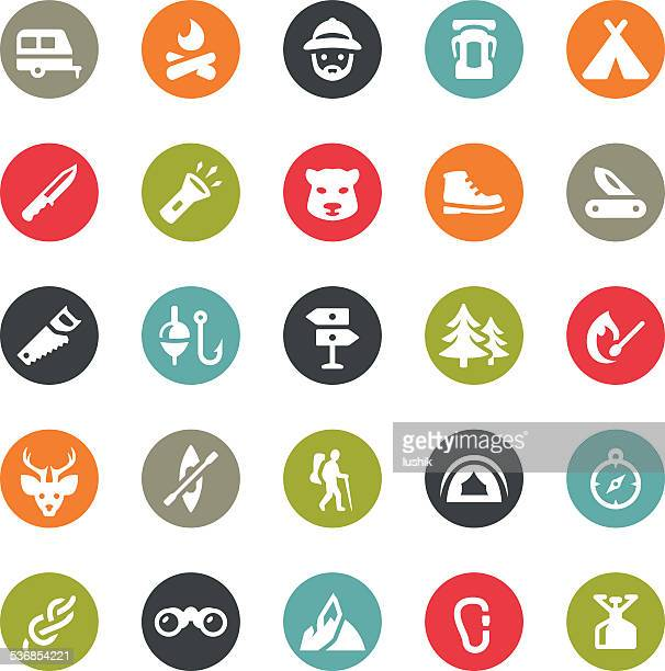 Outdoors and Camping icons / Ringico series