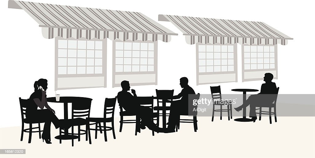 Outdoors Coffee Vector Silhouette