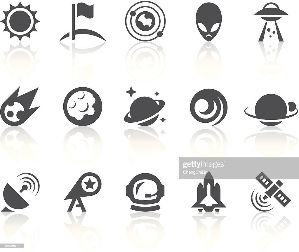 Outer Space Icons | Simple Black Series