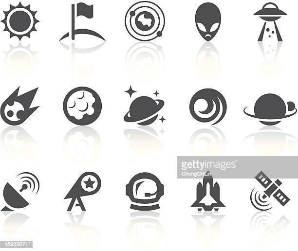 Arrangement Of Icons Depicting Outer Space Vector Art Getty Images