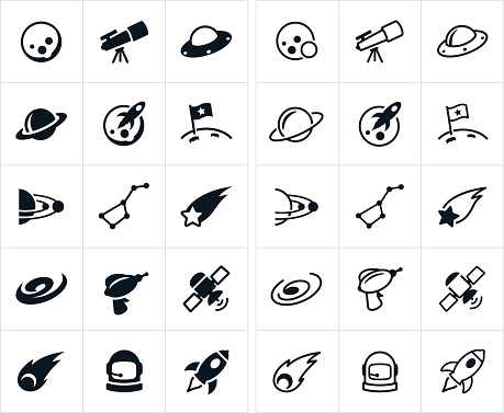 Outer Space Icons - gettyimageskorea