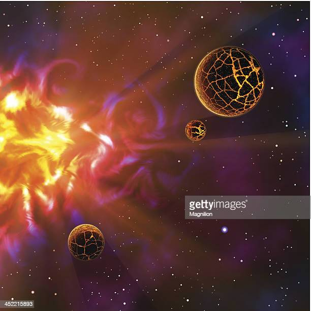 outer space - lava stock illustrations, clip art, cartoons, & icons