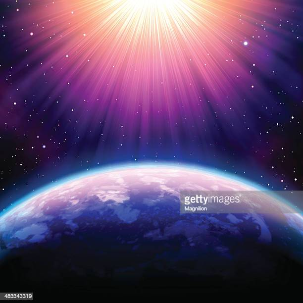 outer space - spirituality stock illustrations, clip art, cartoons, & icons