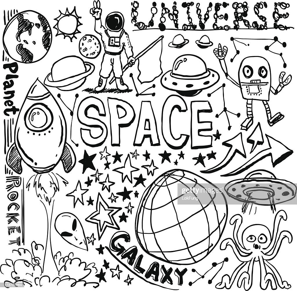 Outerspace elements in sketch collection