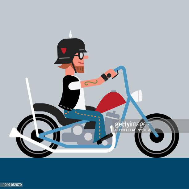 outlaw biker - low rider stock illustrations