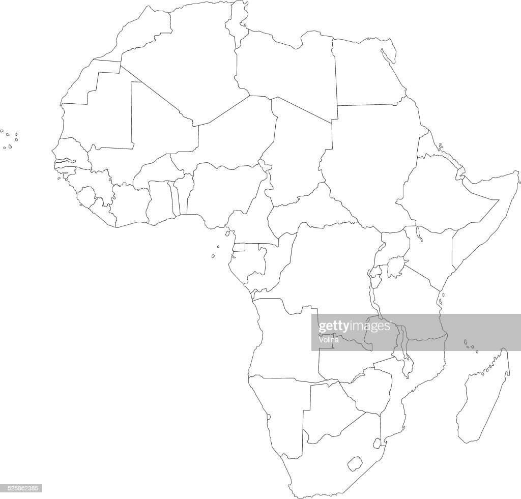 Outline Of Africa Map.Outline Africa Map Vector Art Getty Images