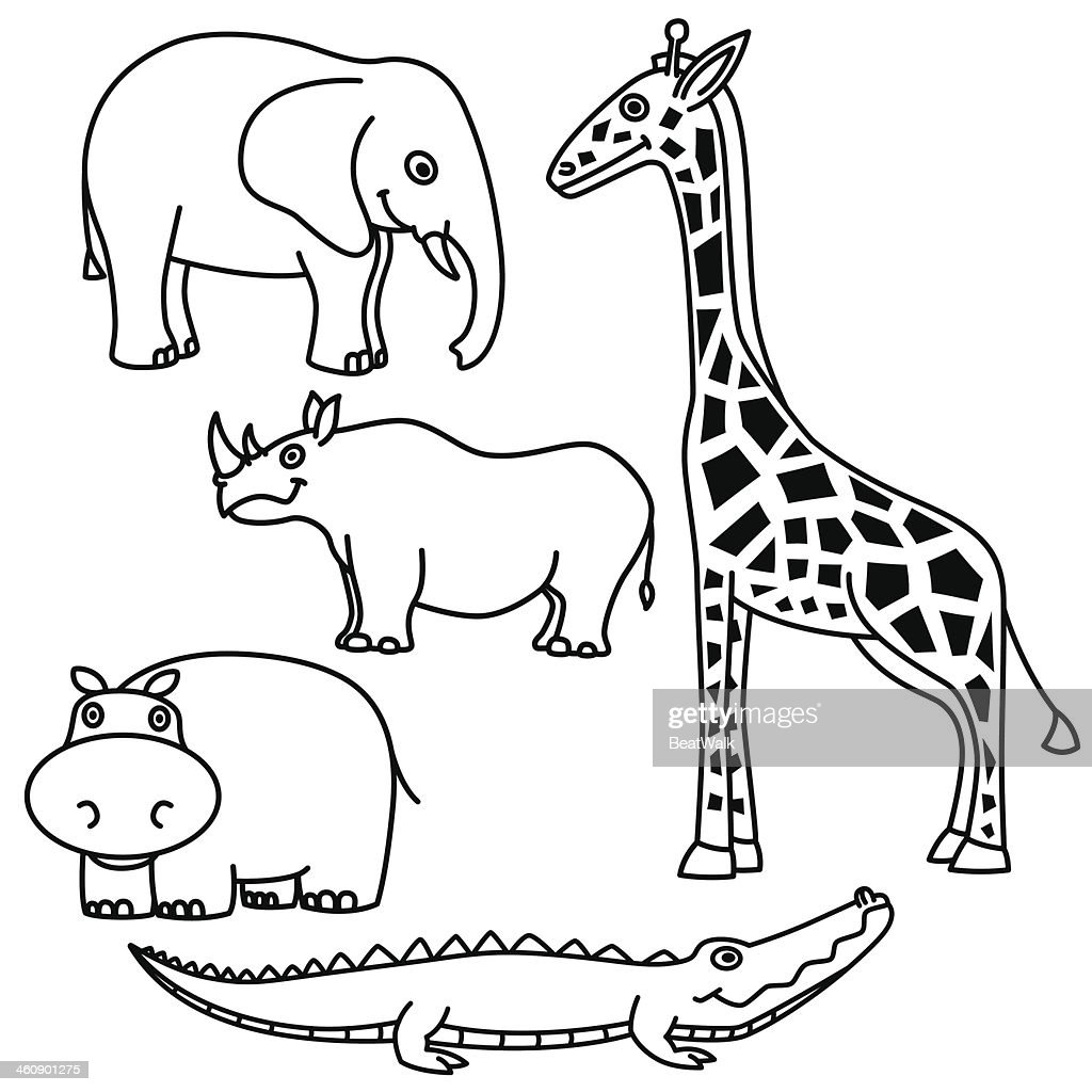 Outline Animals Set