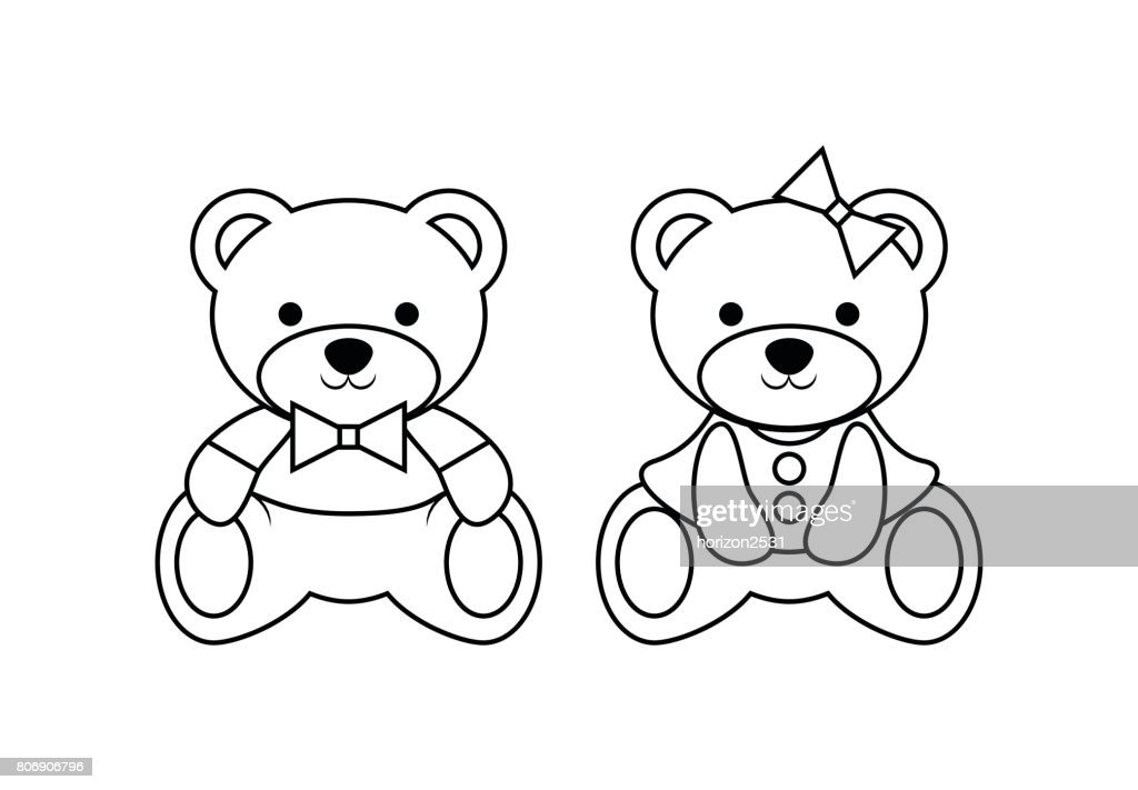 outline bear